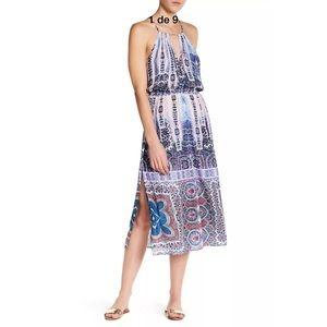 Nanette Lepore Paros Paisley Midi Cover Up Dress